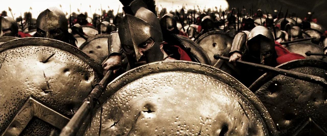 300 спартанцев в бою