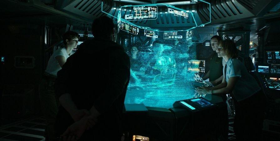 Экипаж изучают таинственную планету и трансляцию (Чужой Завет 2017)